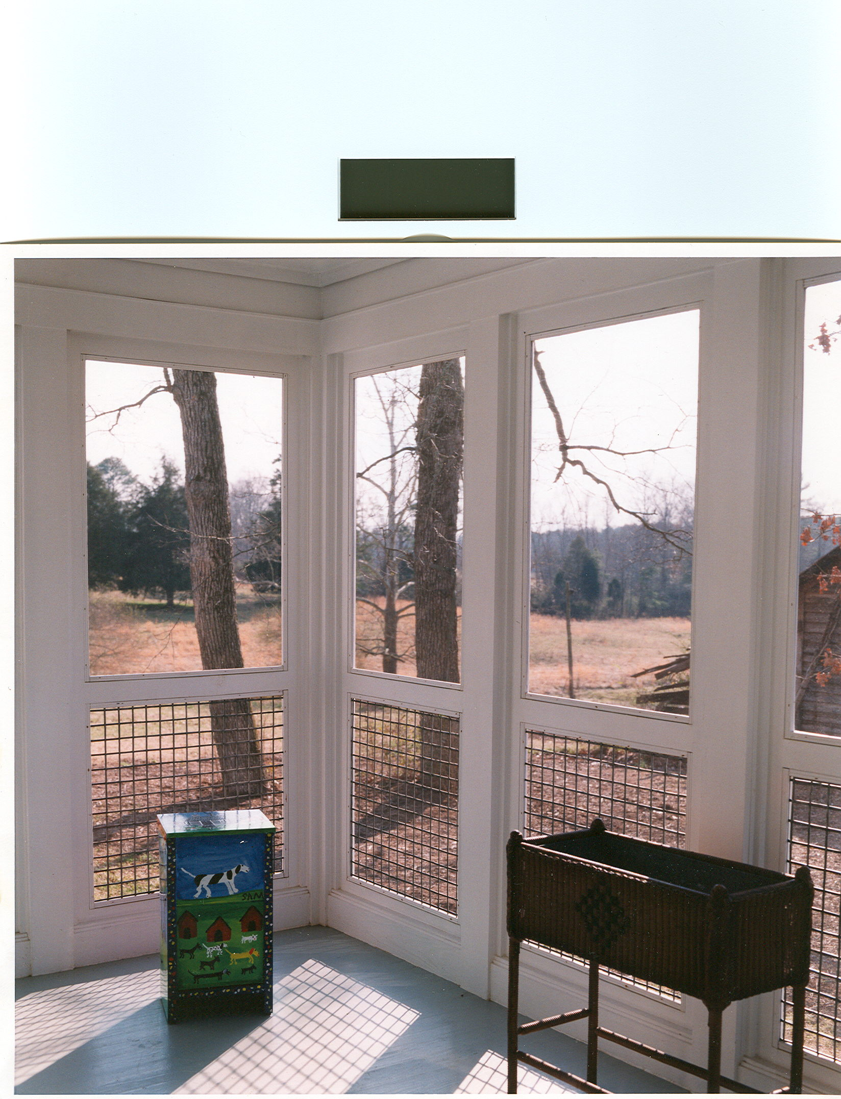 Inside View of Screened Porch
